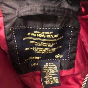 Alpha Industries flight jacket